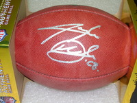 NFL - LIONS TAYLOR DECKER SIGNED AUTHENTIC FOOTBALL