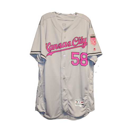 Photo of Dave Eiland Game-Used Mothers Day Jersey (5/8/16) (Size 48)