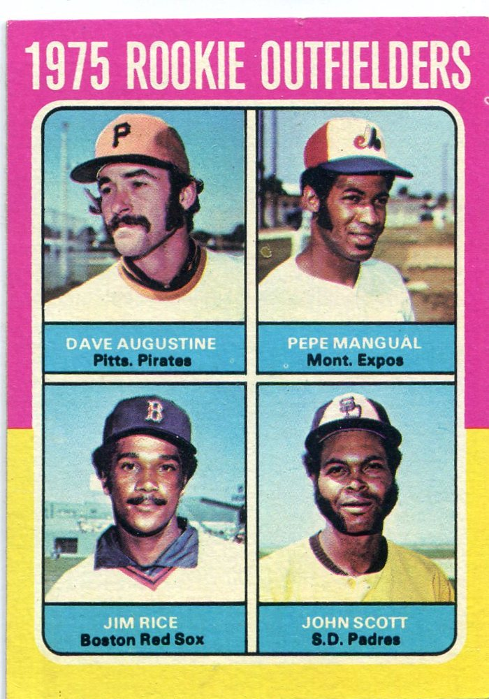 1975 Topps #616 Rookie Outfielders Jim Rice -- Hall of Famer