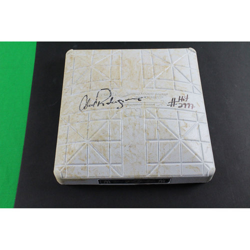 """Photo of Alex Rodriguez Marlins at Yankees 6-17-2015 Game-Used First Base (MLB Auth) (Innings 3-5) w/"""" Hit #2,997""""Insc."""