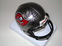 HOF - BUCCANEERS WARREN SAPP SIGNED BUCCANEERS MINI HELMET
