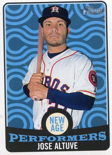 Photo of 2017 Topps Heritage New Age Performers #NAP9 Jose Altuve