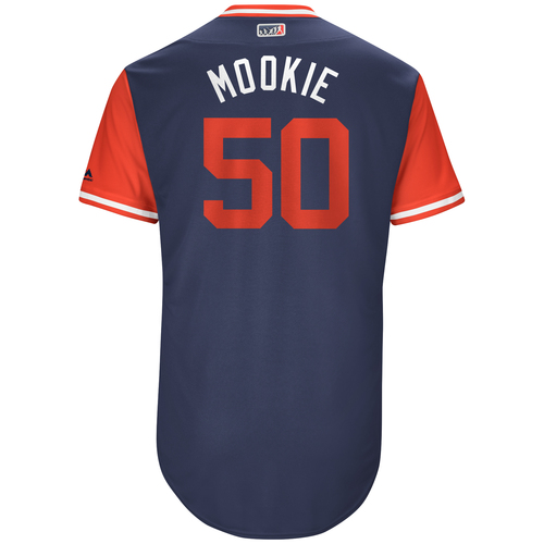 """Photo of Mookie """"Mookie"""" Betts Boston Red Sox Game-Used Jersey Players Weekend Jersey"""