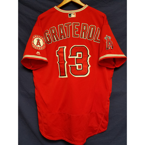 Photo of Juan Graterol Game-Used Alternate Red Jersey