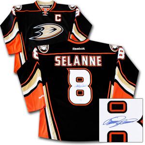 Teemu Selanne Autographed Anaheim Ducks Jersey