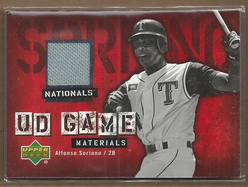 Photo of 2006 Upper Deck UD Game Materials #AS Alfonso Soriano Jsy S1