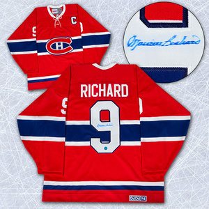 Maurice Rocket Richard Montreal Canadiens Autographed Retro CCM Hockey Jersey