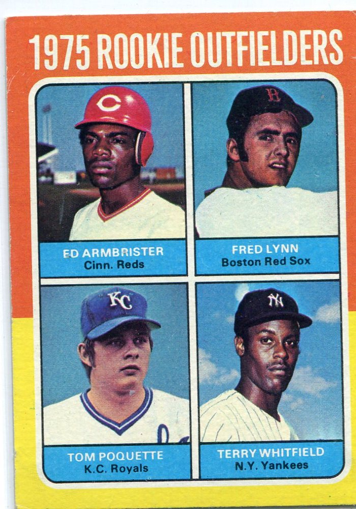1975 Topps #622 Rookie OutfieldersArmbrister RC/Fred Lynn RC/ Poquette RC/Whitfield