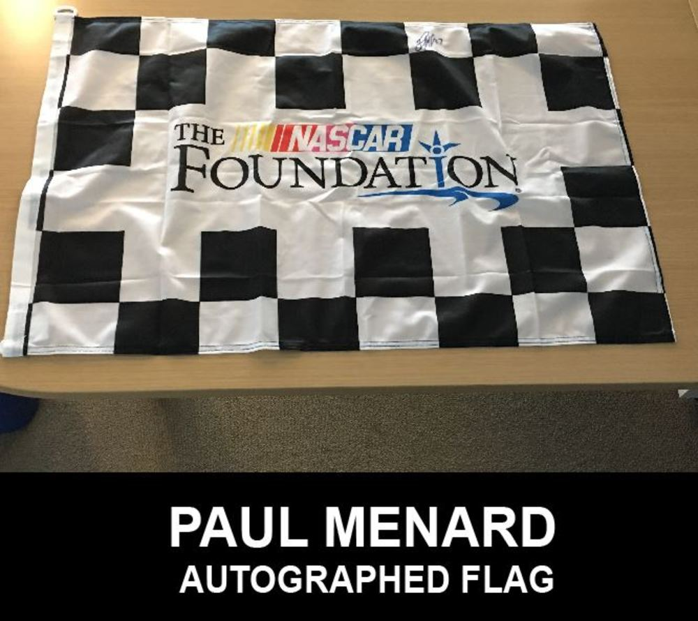 NASCAR Foundation Flag Autographed by Paul Menard