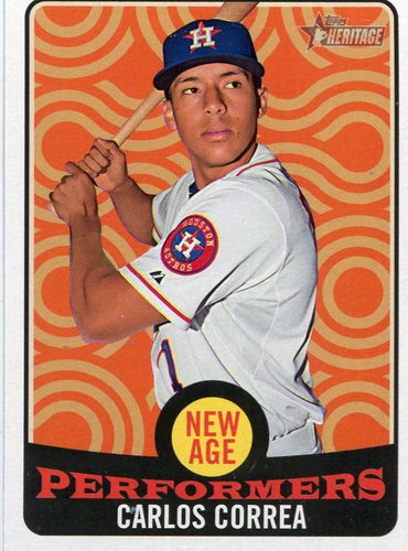 Photo of 2017 Topps Heritage New Age Performers #NAP10 Carlos Correa