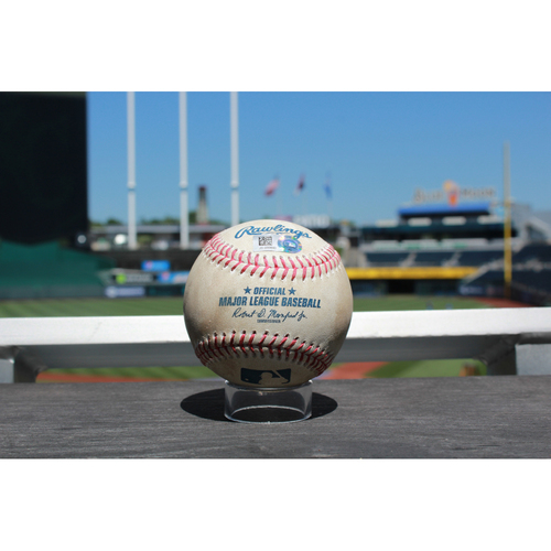 Photo of Game-Used Baseball: Miguel Cabrera Line Out (7/19/17 DET at KC)