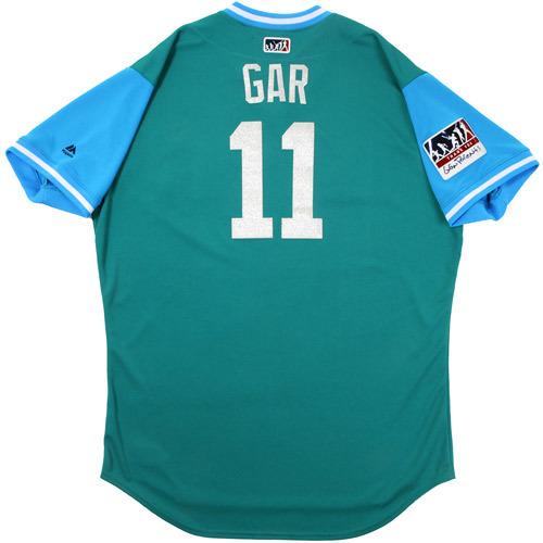 "Photo of Edgar ""Gar"" Martinez Seattle Mariners Game-Used Players Weekend Jersey"