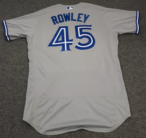 Photo of Authenticated Game Used Jersey - #45 Chris Rowley (September 30, 2017). Size 46.