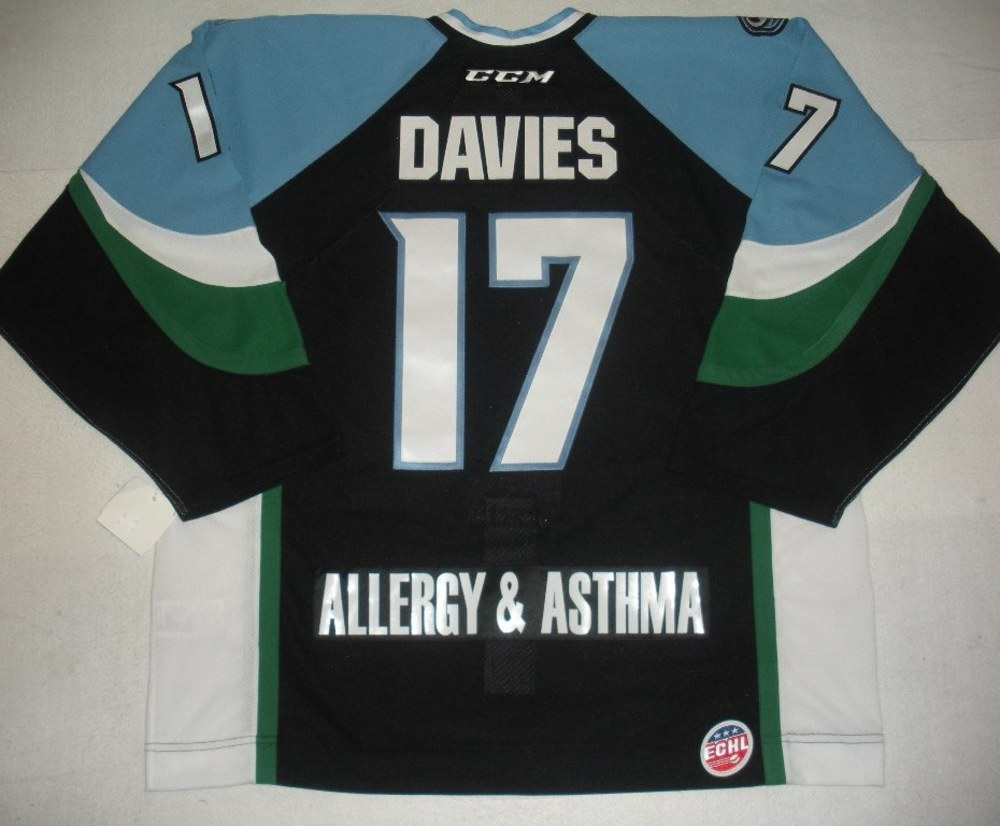 Zach Davies - 2014 Kelly Cup Finals - Alaska Aces - Black Game-Issued Jersey - Game 4