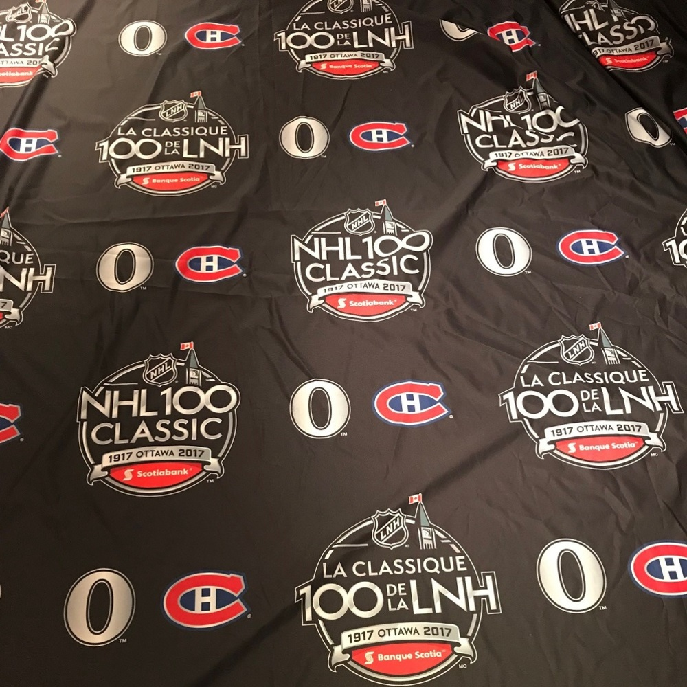 2017 NHL 100 Classic Step and Repeat Banner - Ottawa Senators vs. Montreal Canadiens