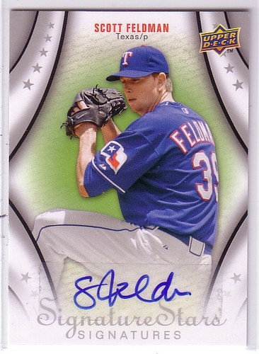 Photo of 2009 Upper Deck Signature Stars #134 Scott Feldman AU