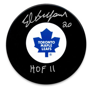 Ed Belfour Toronto Maple Leafs Autographed Puck