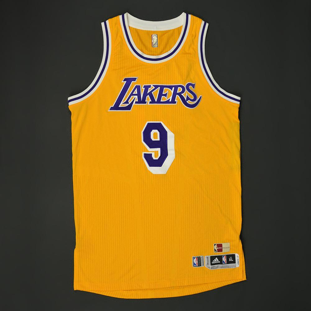 Luol Deng Los Angeles Lakers Game Worn Hardwood Classics 1987