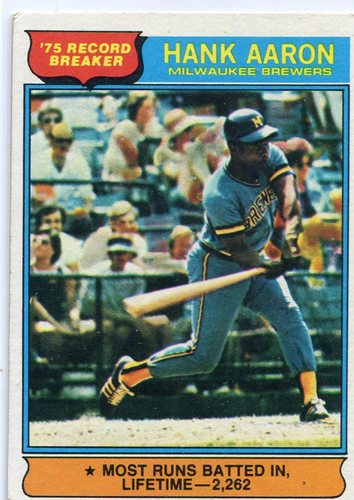 Photo of 1976 Topps #1 Hank Aaron RB