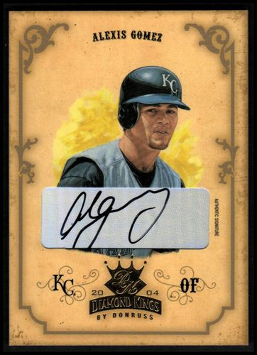 Photo of 2004 Diamond Kings DK Signatures Gold #96 Alexis Gomez/50