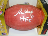 HOF - PACKERS RON WOLF SIGNED AUTHENTIC FOOTBALL