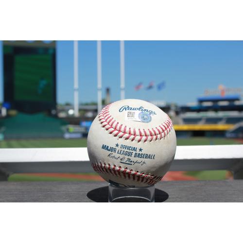 Photo of Game-Used baseball: Jacob Smolinski Single (9/15/16 OAK at KC)