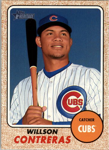 Photo of 2017 Topps Heritage #481 Willson Contreras short print Cubs post-season