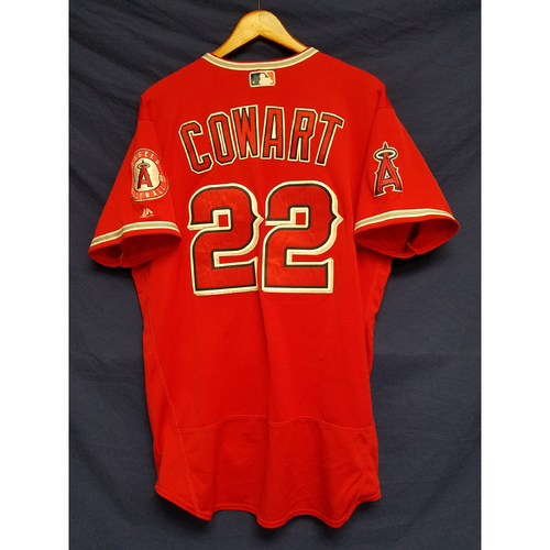 Photo of Kaleb Cowart Game-Used Alternate Red Jersey