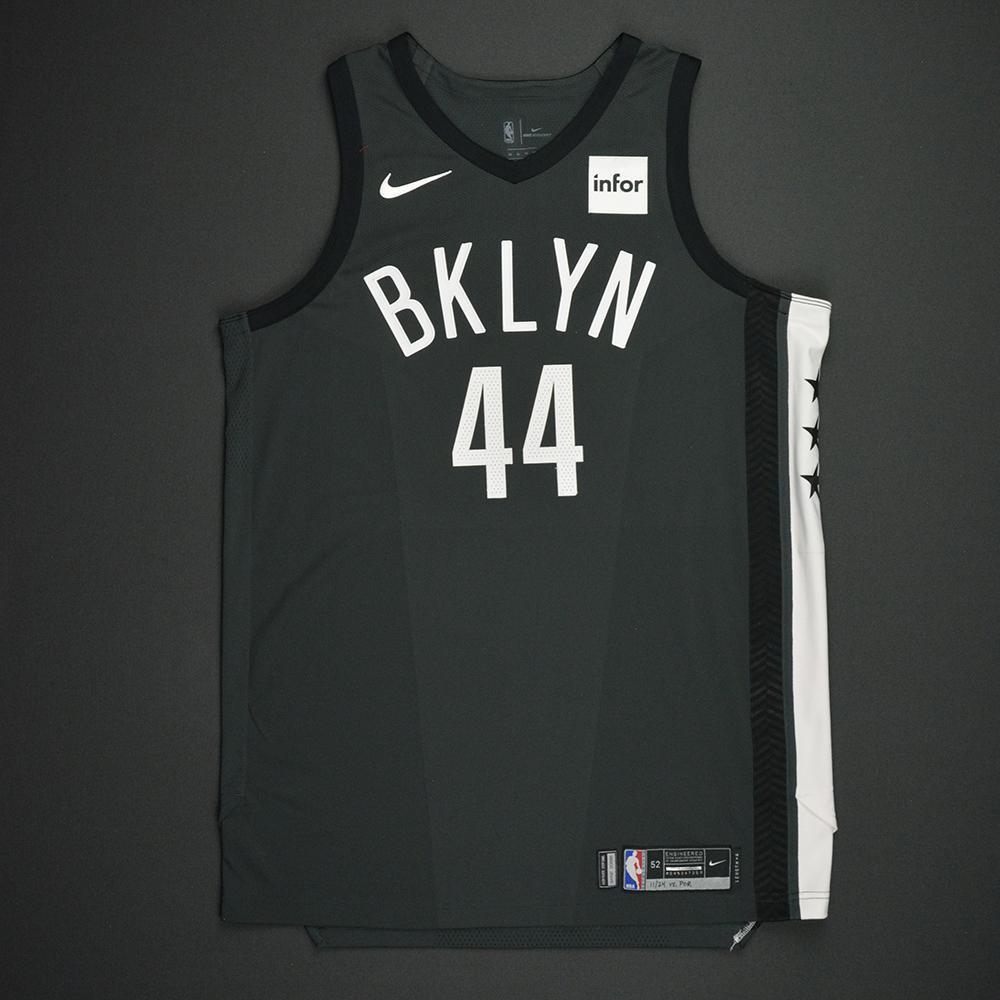 Tyler Zeller - Brooklyn Nets - Statement Game-Worn Jersey - 2017-18 Season