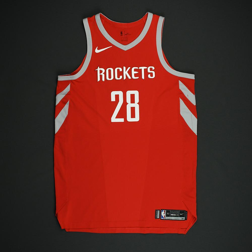 Tarik Black - Houston Rockets - NBA Christmas Day '17 Game-Worn Jersey - Dressed, Did Not Play