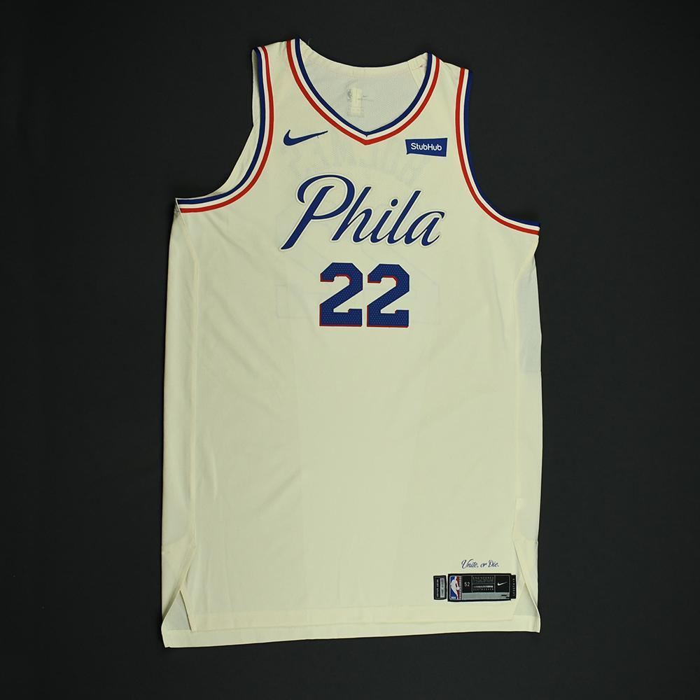 Richaun Holmes - Philadelphia 76ers - Game-Worn 'City' Jersey - 2017-18 Season