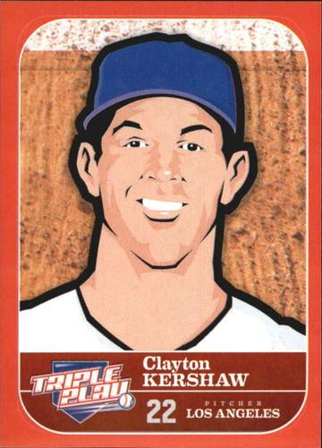 Photo of 2012 Triple Play Stickers #26 Clayton Kershaw