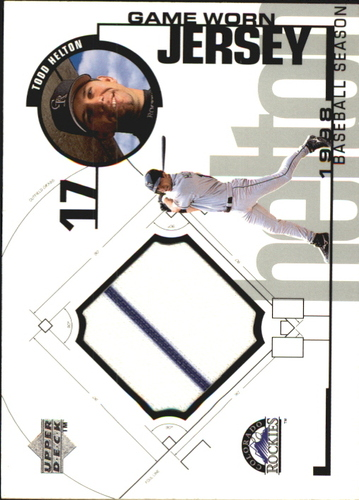 Photo of 1999 Upper Deck Game Jersey #TH Todd Helton H2