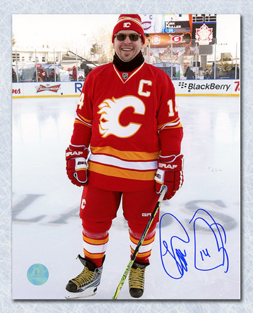 Theo Fleury Calgary Flames Autographed Heritage Classic Legends 8x10 Photo