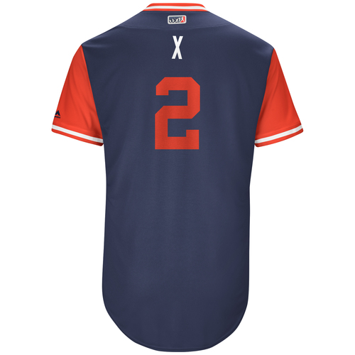 """Photo of Xander """"X"""" Bogaerts Boston Red Sox Game-Used Players Weekend Jersey"""