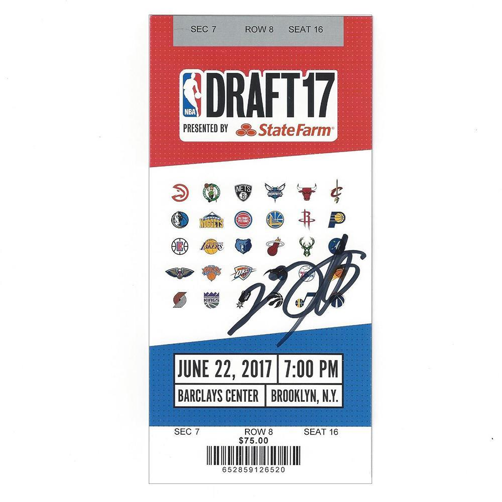 De'Aaron Fox - Sacramento Kings - 2017 NBA Draft - Autographed Draft Ticket
