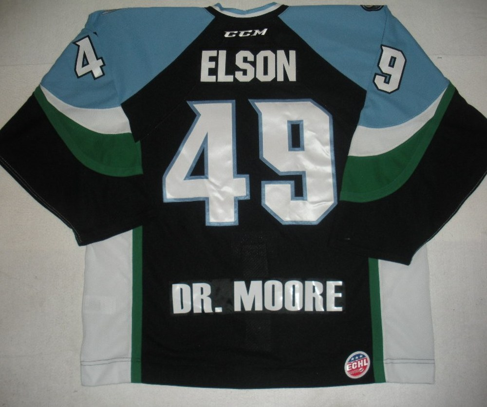 Turner Elson - 2014 Kelly Cup Finals - Alaska Aces - Black Game-Worn Jersey - Game 4