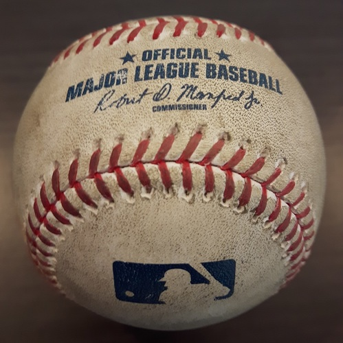 Photo of Authenticated Game Used Baseball - Marco Estrada Strikeout on April 15, 2017 (Top 7 vs Ryan Flaherty)