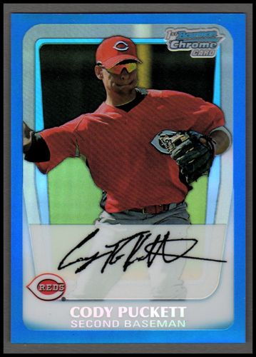 Photo of 2011 Bowman Chrome Prospects Blue Refractors #BCP64 Cody Puckett