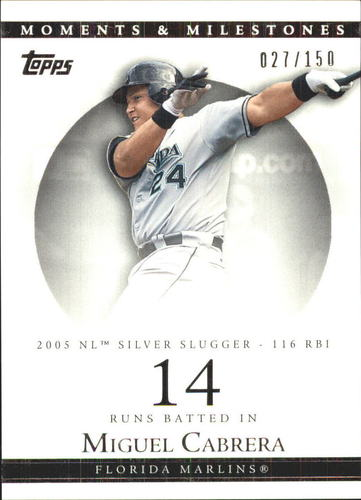 Photo of 2007 Topps Moments and Milestones #110-14 Miguel Cabrera/RBI 14