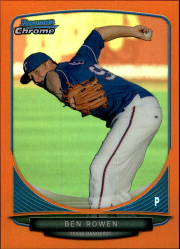 Photo of 2013 Bowman Chrome Mini Orange Refractors #35 Ben Rowen