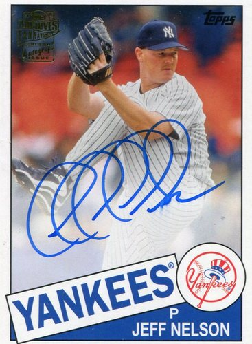Photo of 2016 Topps Archives Fan Favorites Autographs  Jeff Nelson