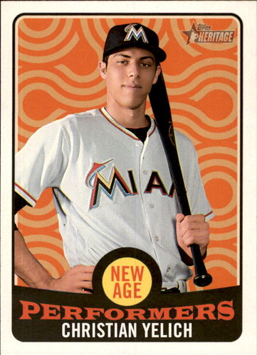 Photo of 2017 Topps Heritage New Age Performers #NAP15 Christian Yelich