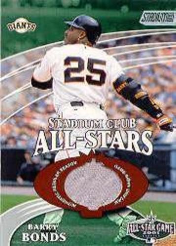 Photo of 2002 Stadium Club All-Star Relics #SCASBB Barry Bonds Uni G6