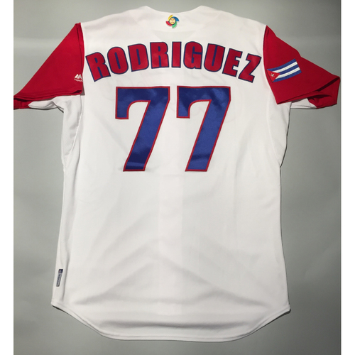 Photo of 2017 WBC: Cuba Game-Used Home Jersey, Rodriguez #77
