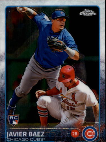 Photo of 2015 Topps Chrome #89 Javier Baez Rookie card
