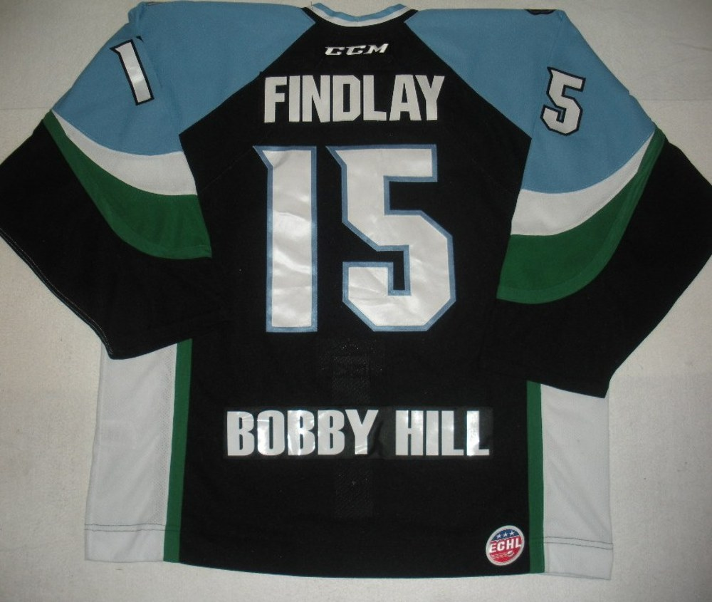 Brett Findlay - 2014 Kelly Cup Finals - Alaska Aces - Black Game-Worn Jersey - Game 4