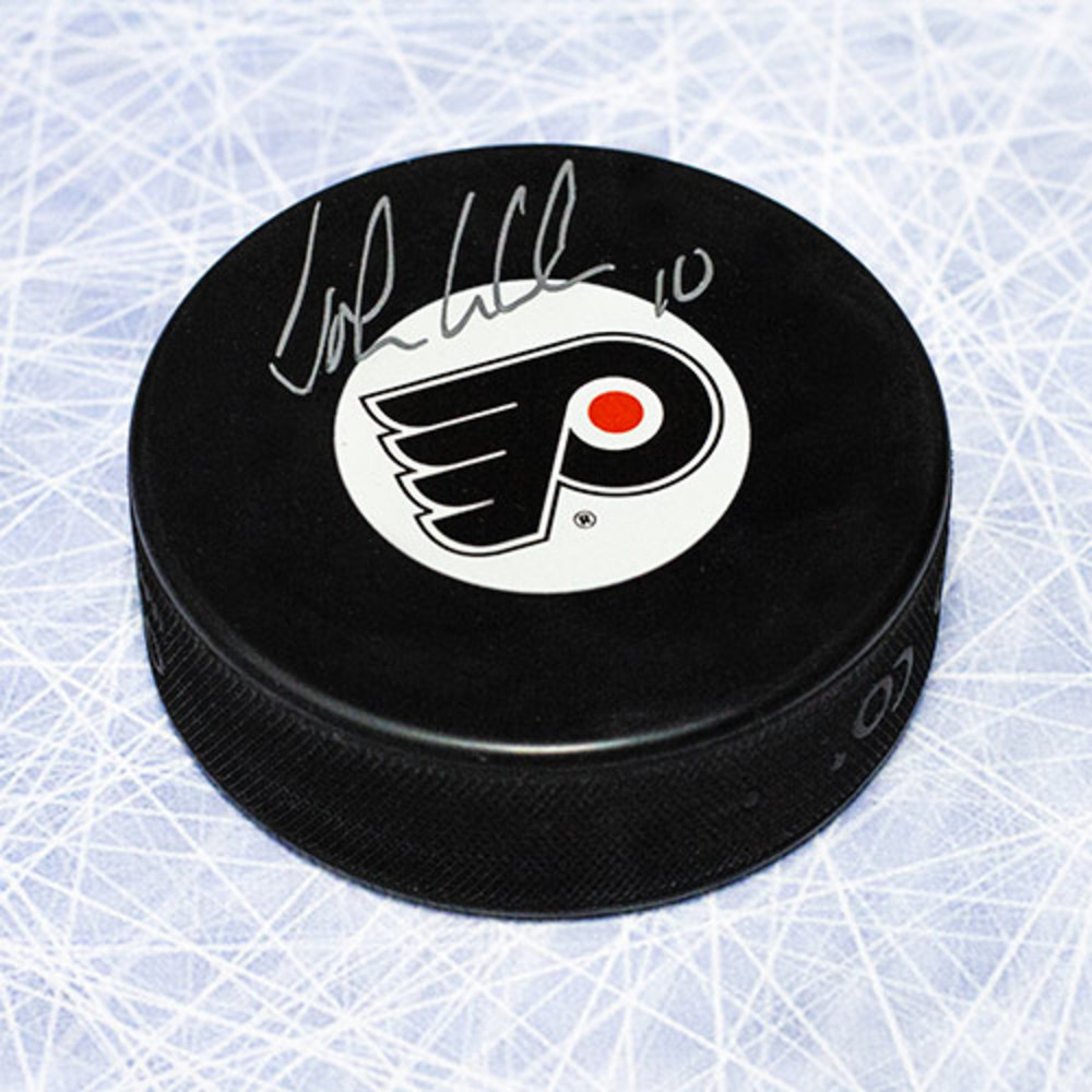 John LeClair Philadelphia Flyers Autographed Hockey Puck