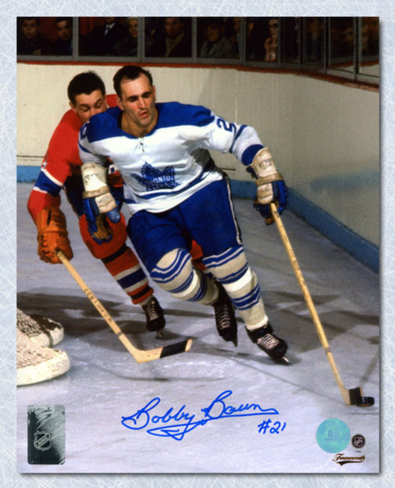 Bobby Baun Toronto Maple Leafs Autographed Original Six Action 8x10 Photo