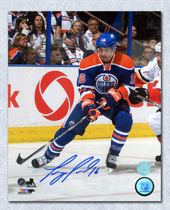 Teddy Purcell Edmonton Oilers Autographed Battle Of Alberta 8x10 Photo *Florida Panthers*